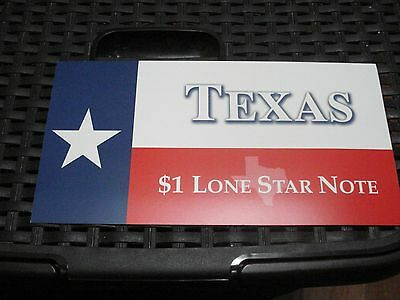 2001 Series Texas $1 Lone Star Note