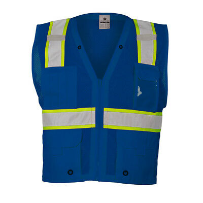 ML Kishigo Reflective Mesh Safety Vest, Blue