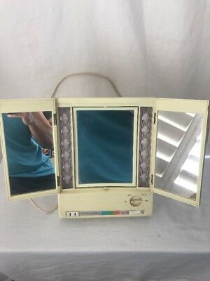 Clairol True-To-Light VIII LM-8 Lighted Makeup Mirror Working Vintage