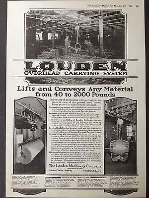 Vintage 1920 Ad (E17)~The Louden Machinery Co. Fairfield, Iowa. Overhead Systems