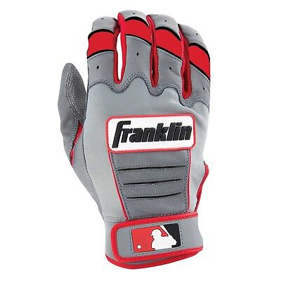 Franklin Adult CFX Pro Series Batting Gloves Pair Grey/Red- XLarge