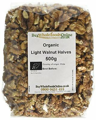 Buy Whole Foods Organic Walnuts Light Halves 500 g