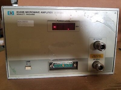 HP 8349B 2-20GHz Microwave Amplifier Powers UP!