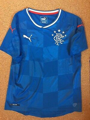 Official Puma G Rangers Football Shirt, size youth X-Large UK 32/34