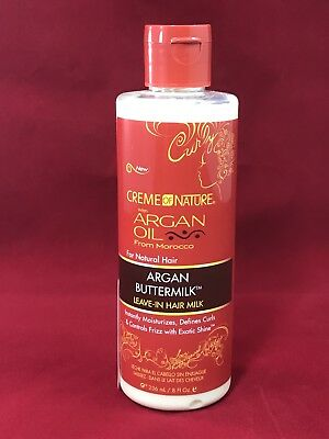 Creme Of Nature Argan Buttermilk Leave In Hair Milk 8 Ounce