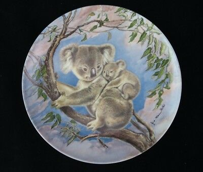 Edwin M. Knowles Limited Edition Collector Plate w/COA Koala Bear and Baby