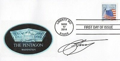 Signed Leon Panetta Department Of Defense Cia Fdc Autographed First Day Cover