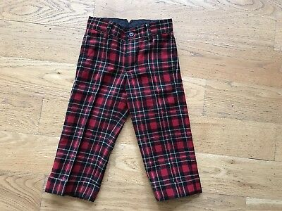Janie And Jack Holiday Red Plaid Pant Size 2
