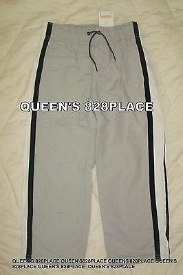 Nwt Gymboree Boys Size 4 4T Gray Athletic pants Striped Lined new