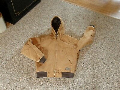 SCHMIDT WORKWEAR Tan Canvas Cotton Hooded Coat - Size: Small Regular