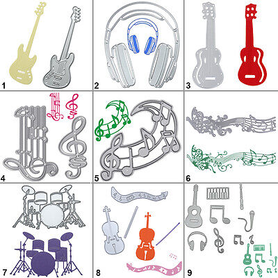Music Cutting Dies Metal Stencil DIY Scrapbooking Album Paper Card Embossing