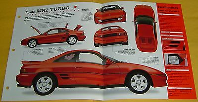 1990 1993 1995 Toyota MR2 Turbo 4 Cylinder 200 hp IMP info/Spec/photo price 15x9