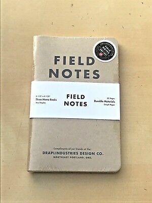 SEALED Field Notes Brand Notebook 10th Anniversary Edition 3-Pack Notebooks