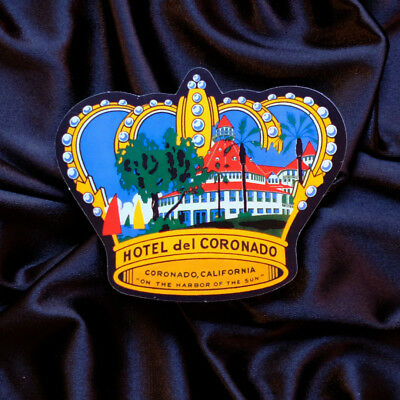 "#2353 Hotel del Coronado San Diego California 3x2.5"" Retro Luggage Label Sticker"