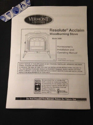 Vermont Castings Defiant encore   wood stove manual operation installation