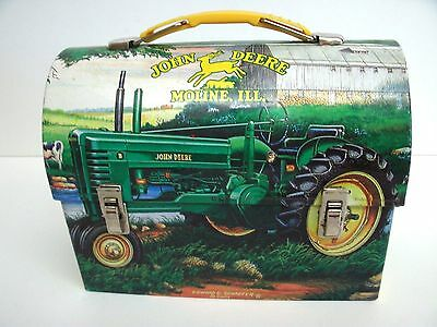 2001 JOHN DEERE Mini Dome lunch box,Ed Schaefer summer farm scene