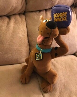"Scooby Doo Scooby Snacks Plush Doll 12"" Cartoon Network Stuffed Animal Toy RARE"