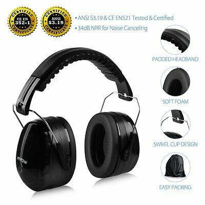 Mpow Shooting Ear muffs Gun Range Noise Reduction High NRR Earphones Padded Head