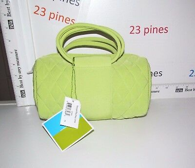 Vera Bradley Small Size Bangle Bag Key Lime Microfiber Nwt Mint Condition