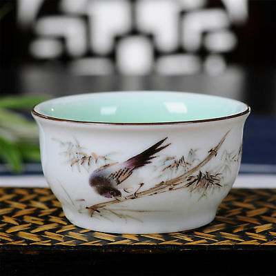 1pc longquan Celadon bamboo kung fu tea cups china ceramic jingdezhen teacup