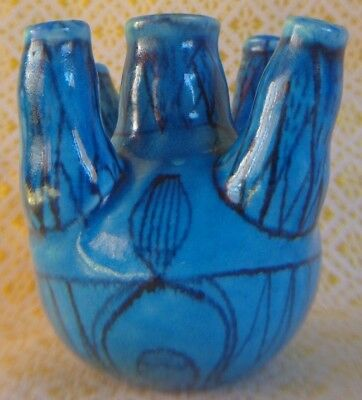 MMA Reproduction Egyptian 12th Dynasty Flower Vase Blue Faience ~ FREE SHIPPING