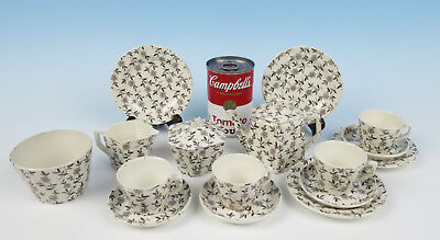Antique Staffordshire RIDGWAY DAISY Child's Tea Set Toy Pottery Transferware Cup