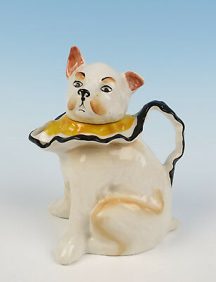 RARE Bursley Ware Mr. PUNCH'S DOG TOBY Figural Staffordshire Teapot Antique Judy