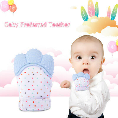 Teething Mitten Baby Soother Glove Applicator for Babies Mouths Suitable