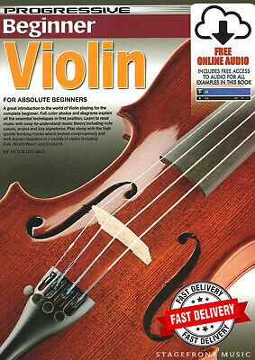 Progressive Beginner Violin Lessons - Teach Yourself How To Play Violin +Cd