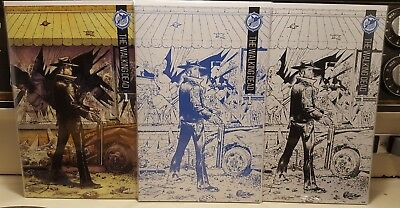 The Walking Dead #1 NM Skybound 5th Anniversary Set (Color, Sketch, Blue Line)