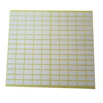 2,250 Small Sticky White Label 8x20 mm Sricker Price Tag Blank Self Adhesive