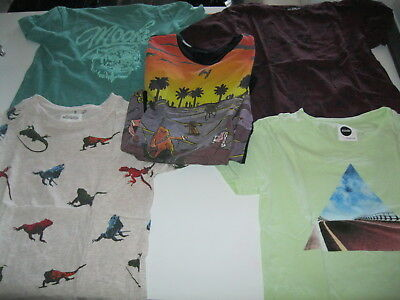 Boys T-Shirts (5), designer labels (Sudo, Alphabet Soup etc), Size 7 and 8