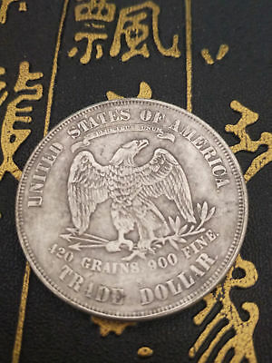 1871 United States Of America 420 Grains 900 Fine Trade Dollar Coins