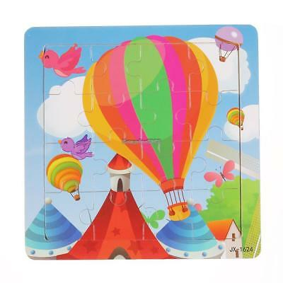 Development Baby Toddler Intelligence Animal Wooden Brick Jigsaw Puzzle Toy EACF