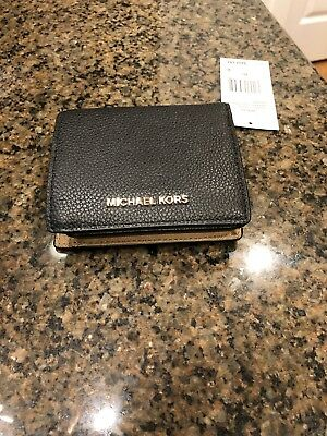 NWT Michael Kors Mercer Black Leather CarryAll Card Case 32F6GM9D1L MSRP$88