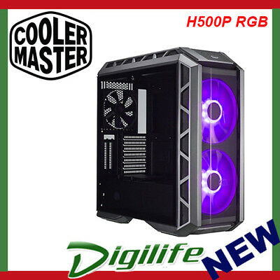 Cooler Master MasterCase H500P RGB Black ATX Case Tempered Glass Panel Mid Tower
