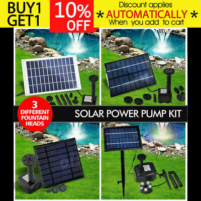 Solar Powered Fountain Outdoor Fountains Submersible Water Pump Pond