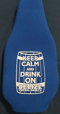 Belize Beer Bottle Sleeve - Keep Calm and Drink on Belize C.A.