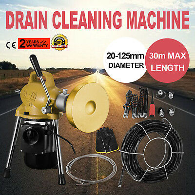 3/4''-5'' Dia Sectional Pipe Drain Cleaning Machine Sewage Snake Cleaner Durable