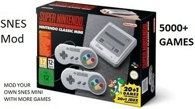 SNES Mini USB Mod. 5000+ Games! Mod Your Own Console.