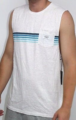Men's Vonzipper Marle Pocket Muscle Tank Singlet Top, Size M. NWT, RRP $49.99.