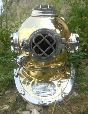 Royal Vintage Brass Scuba Sca Divers Diving Helmet Navy Marine Deep Sea Antique