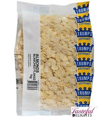 Trumps Flaked Blanched Almonds 1kg