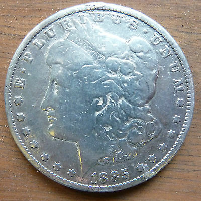 1885 United States USA Morgan Dollar 90% Silver Coin