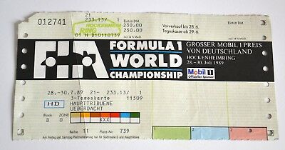 1Ticket   FIA Formula 1 Word Championship 1989 Hockenheim ring