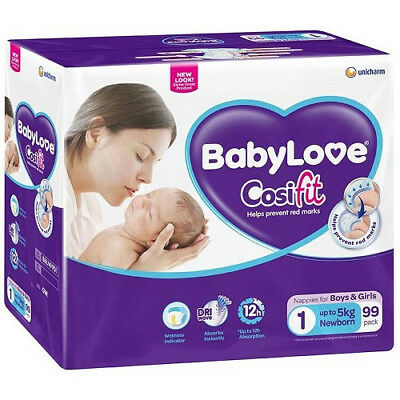 Babylove Cosifit Nappies Newborn Jumbo Pack 99