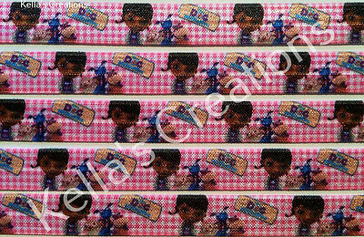 """Doc Mc Stuffin Fold over Elastic 5/8"""" sold by 2 M - craft - hair bow"""