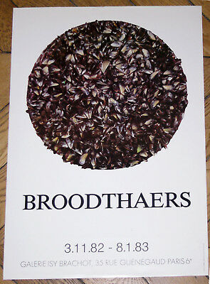 Affiche d'exposition MARCEL BROODTHAERS 1982 ISY BRACHOT