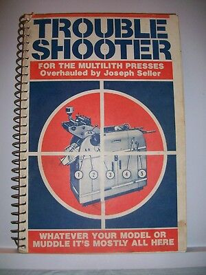 Multilith Offset Presses Trouble Shooter Repair Book By Joseph Seller 1977