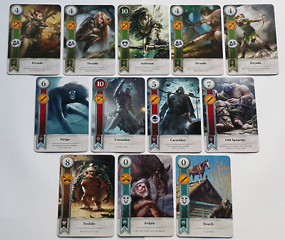 GWINT/GWENT style CARDS (12 ADD CARDS) Witcher 3 Wild Hunt (ENG EDITION) 1ST EXP